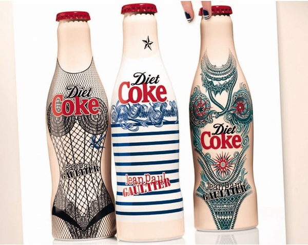 Jean Paul Gaultier x Diet Coke  unveil 3rd tattooed designed ltd ed set!!