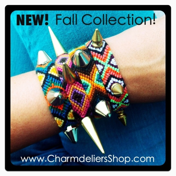 NEW!!! Fall Collection!!!! Www.charmdeliersShop.com !!  #friendshipbracelets #fun #edgy #accessories #armparty #friendship #miami #friends #funky #bracelets