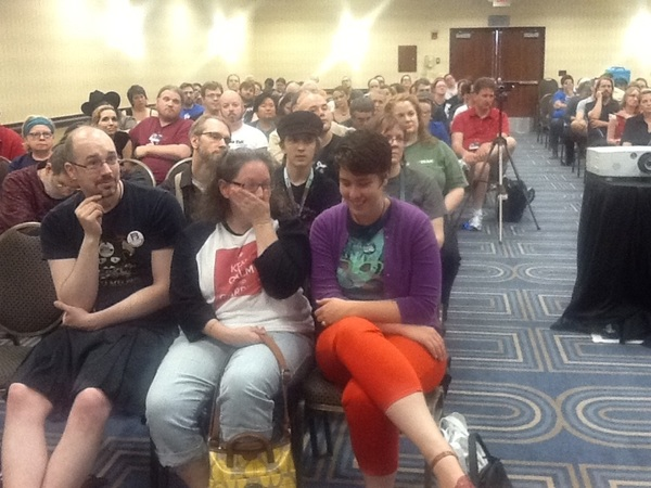 Full house at evo psych panel at #cvg2013. No one seems to have walked out!