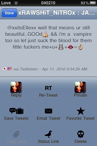 RT @xxitsEllexx @xRAWSHiT_NiTROx lol it was only between 1-3 wors outta each tweet lls__so you didn't see this
