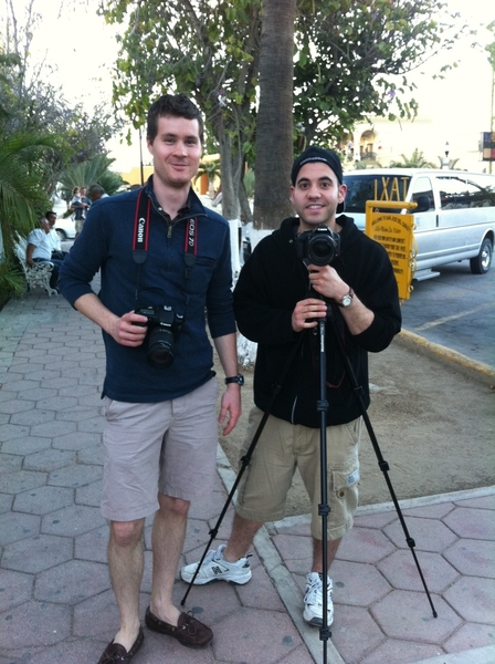 Starting tomorrow: Jeff (my asst) & Blake willbe posting behind scenes video of r tv shoot on FronteraFiesta.com.