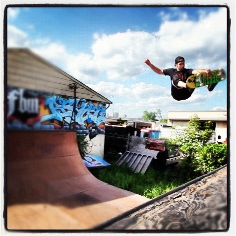 Taking pics of others until I can skate again. My skate partner Josh Hall (aka @CCannabisCorpse) tearing the air today.