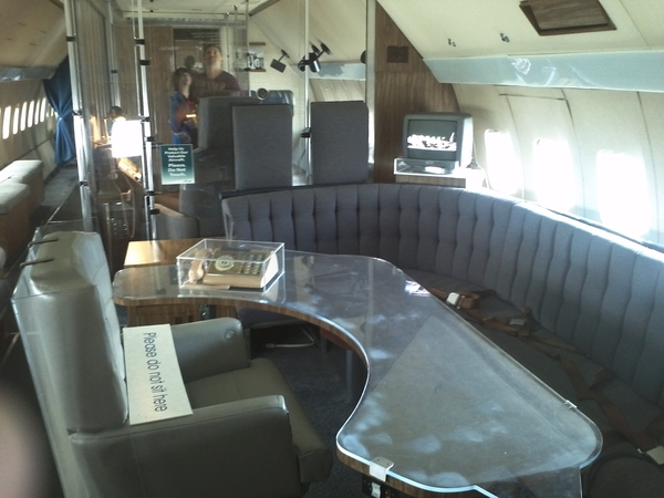 Inside air force one by amy wheatgrower on mobypicture Air force one interior