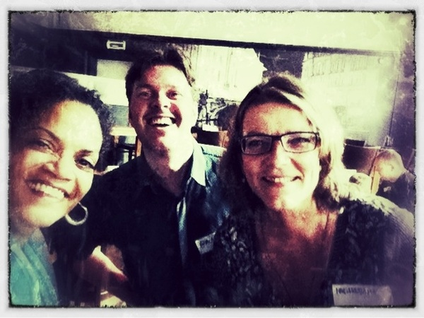 * Former colleagues at #twitterlunch. @MrApollo @mariekebaan