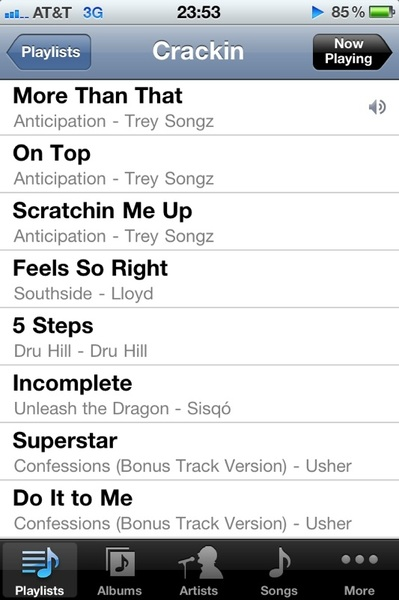 "@LovelyAssLeah A preview of some of the tracks on my ""Crackin"" playlist"