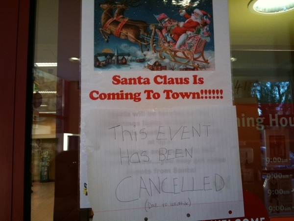 Santa is cancelled