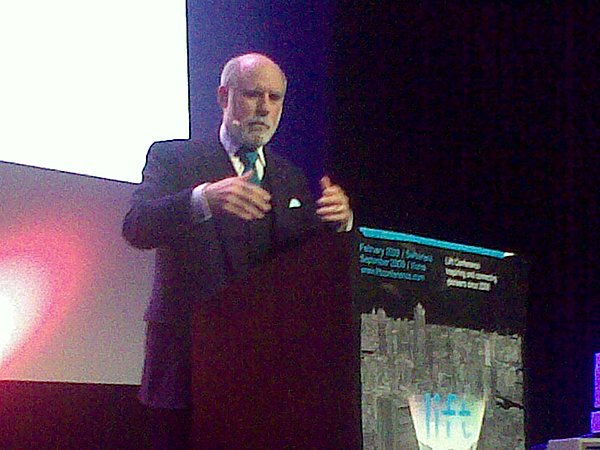 This guy is just amazing + unbelievably entertaining: vint cerf, one of the founders of the internet #lift09