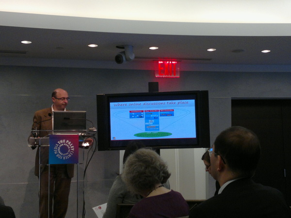 @Engagio presenting their 'unified social inbox' at #PaleyNext at the @paleycenter