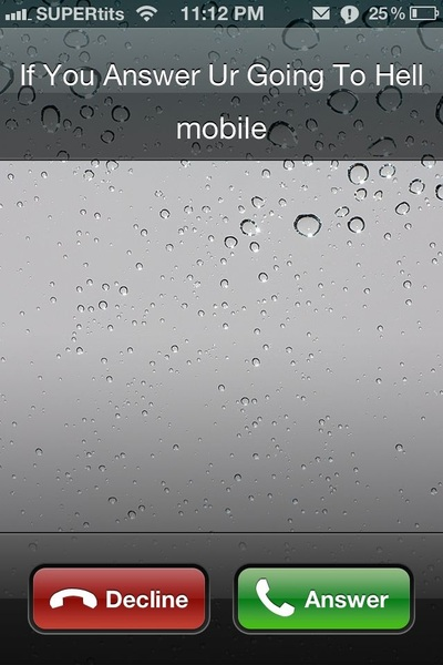 Stop calling me i don't want to go to hell!!