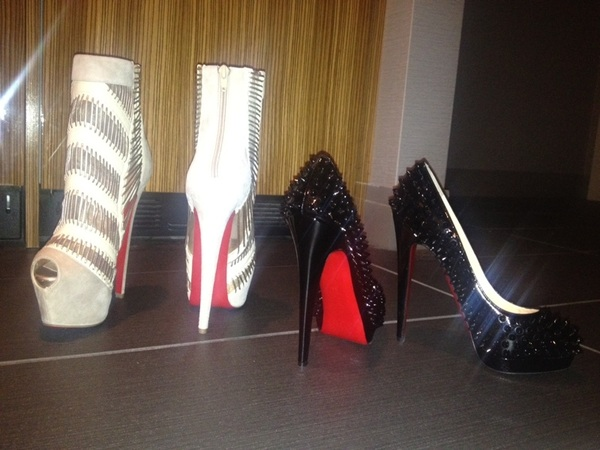 Here's a pick of my new shoes. Thanks  @KeiranLee #louboutin #redbottoms #ilovemyman