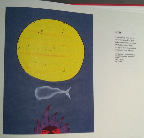 the Moby Dick in pictures book Sophie gave me is so awesome
