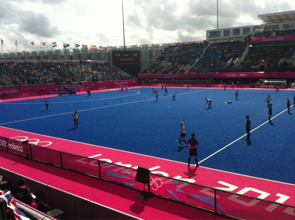 Oh yes she is playing!!! @katewalsh11 @GBHockey2012 my hero!!!!!!!! #nopainnogain #nails