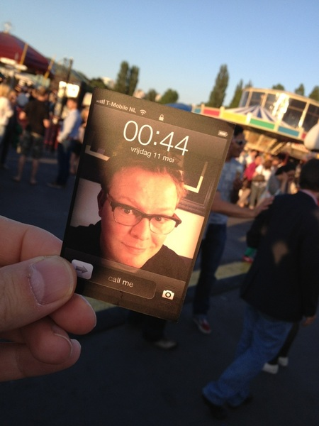 Cool. Business card van @JohndenBraber Op de Parade.