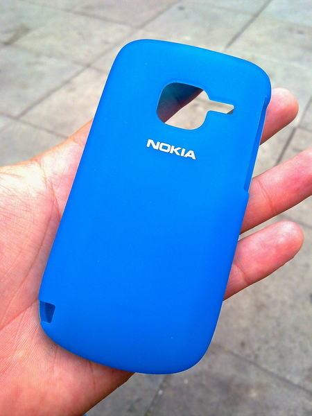 El #NOKIA #C3 trae esta funda estilo BB para protegerlo :D