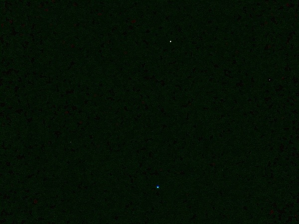 Mars (top) and Regulus at 04:12 this morning in Shropshire