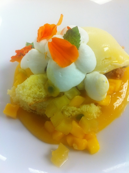 Dessert: Zuccardi wine din: lime pudding cake, 