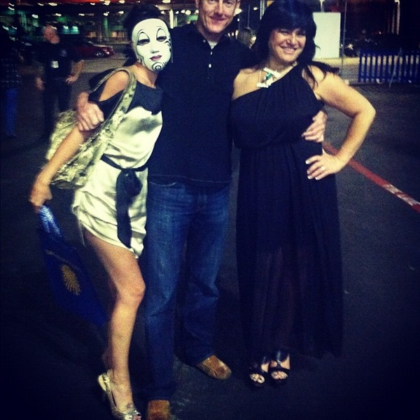 Me & #JacquelineKolski pose with #randompeople outside of @cirque #KOOZA ^Pretty sure he's groping me.