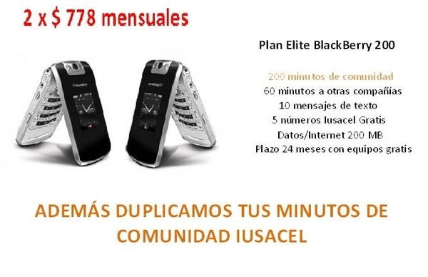 Ahora 2 BB Flip GRATIS x $778 mensuales, Internet ilimitado, nm. Gratis, BB mesenger mas el doble de minutos #Cuernavaca