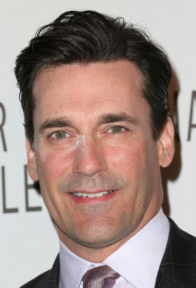Jon Hamm's makeup malfunction. And you thought this only happened to Nicole Kidman & Eva Longoria