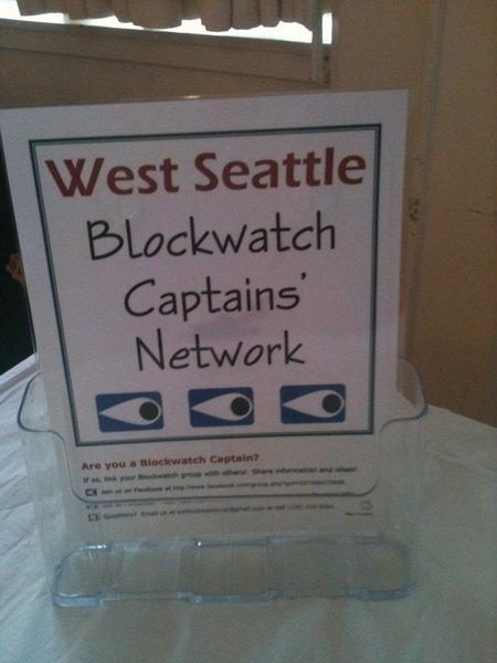 Thank you West Seattle Block Watch Captains. ^ab