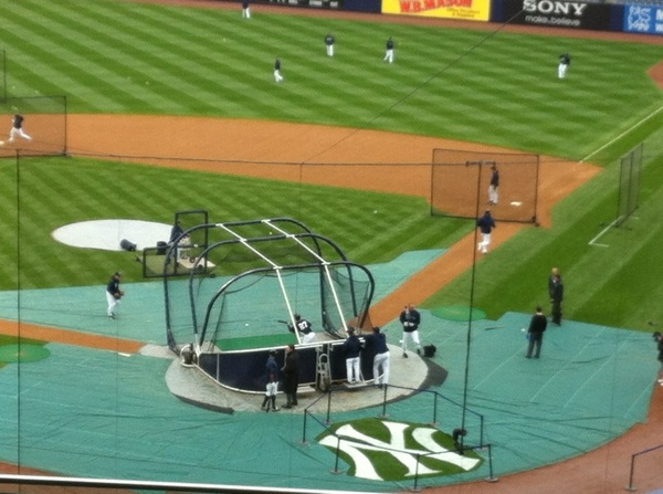 Your weather report from The Stadium for #Yankees #Orioles Chilly, 100% chance of BP