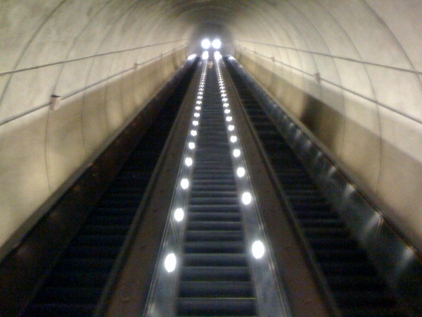 The 230' long escalators @wmata Wheaton.