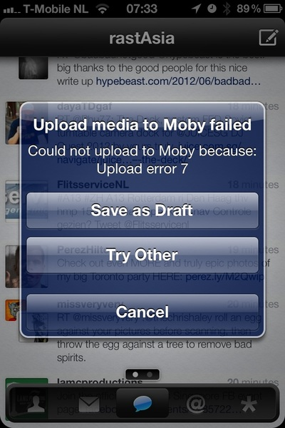 Both @twittelator pro + Neue failed to upload pic attachment