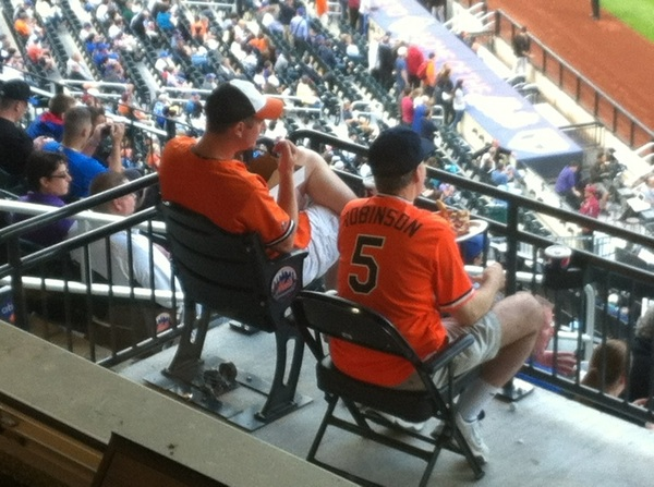 More evidence of what might be 20% Oriole fandom here at Mets. We'll find out when it's time to yell