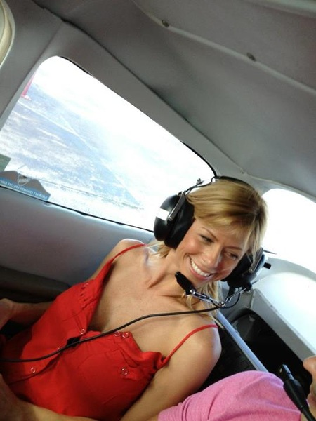 This is my pal #ALEXISFAWX on a plane...