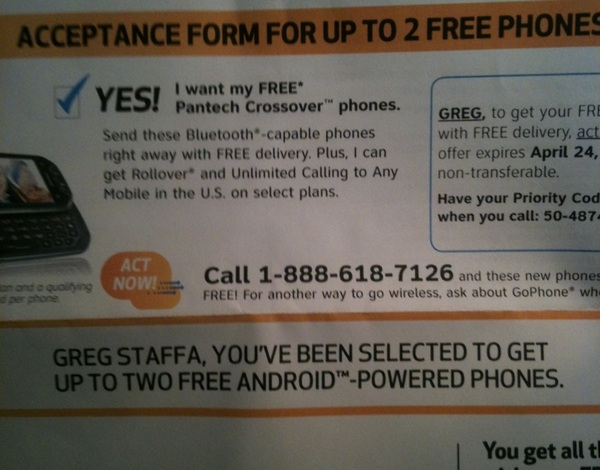 Just got a free Android phone offer.  Not sure how anyone fighting #homeless issues would get/use android & not boycott
