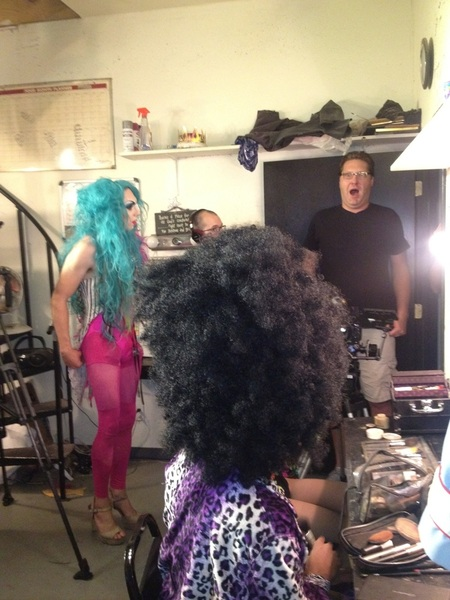 Yawning!??? Drag queens back stage at The Boom!!