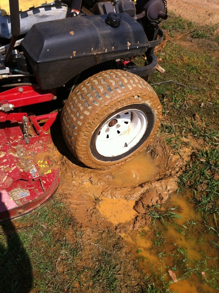 Is it bad to mow mud?  @J_Blankenship  @broleesmith
