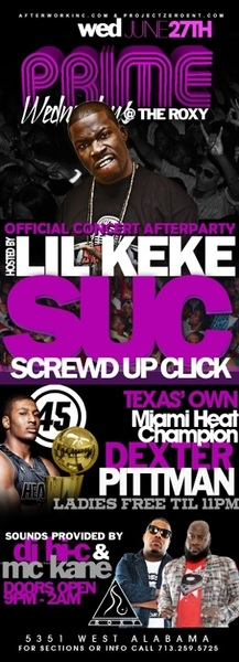 DO NOT MISS THE #ROXY TOMORROW! The #SUC After Party Will be on steroids!!! Check the bill. Where my #HEAT fans at? 