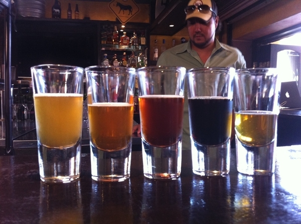 Oh, No!  It's 10:30 in the morning and I had to shoot a beer-tasting segment at Baja Brewing in San Jose del Cabo.