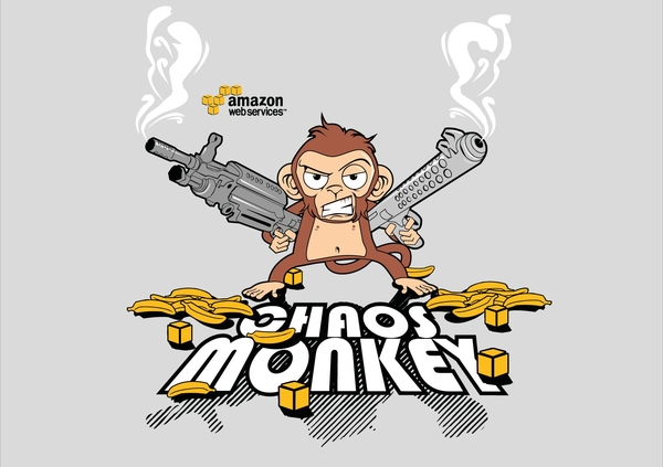 The second of the two winning designs for the Chaos Monkey T-Shirt #aws