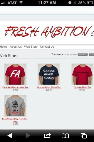 Support Our Vision As We Support Yours ---&gt; freshambition.webs.com  #FAFreshAmbition