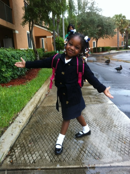 Takin my lil lady to school. #genius
