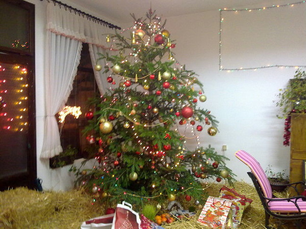 Christmas tree at Grandmother's :)))