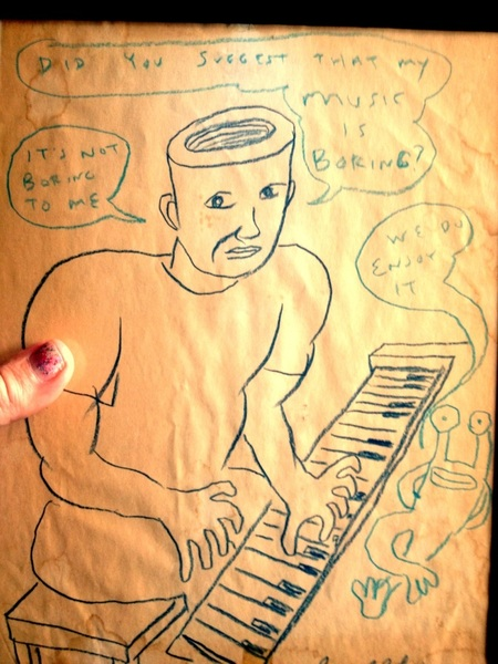 Gotta cool Daniel Johnston drawing while in Houston!!