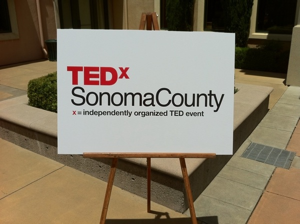 Congratulations to #TEDxSonomaCounty on your inaugural event.