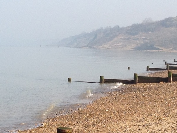 Bit hazy today. #onthebeach
