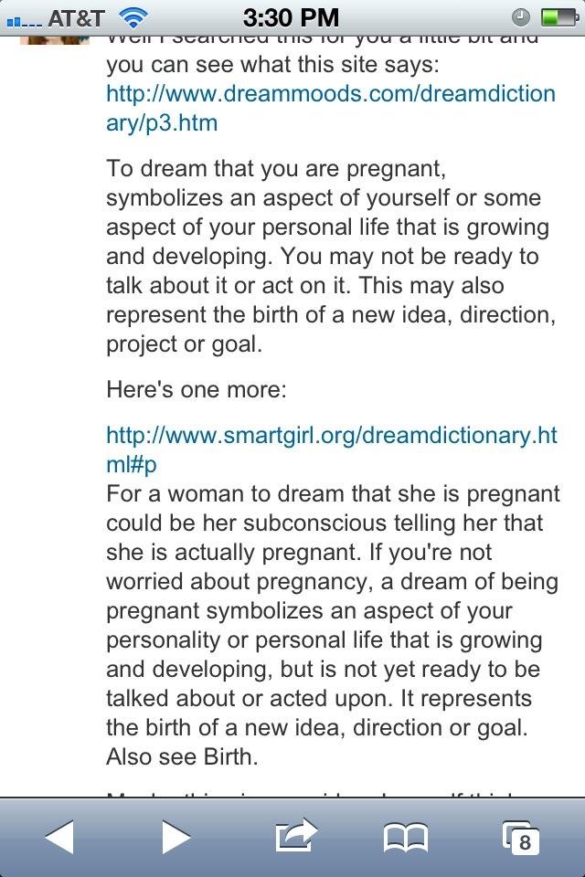 I Keep Dreaming Im Pregnant 86