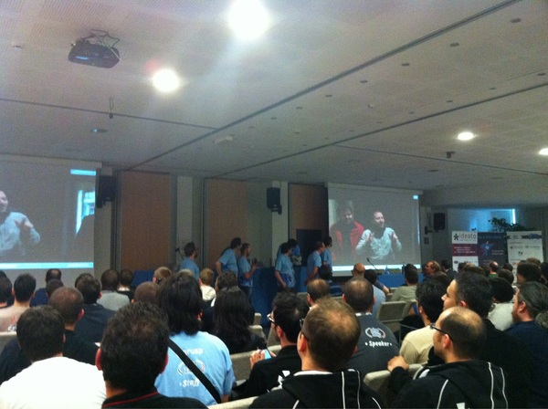 The crew closing off an awesome #phpday 