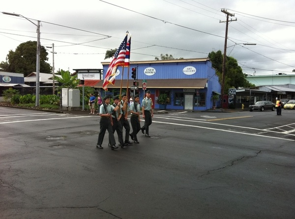 Veteran's Day Parade - Flags #Aloha #Hilo #Hawaii #in
