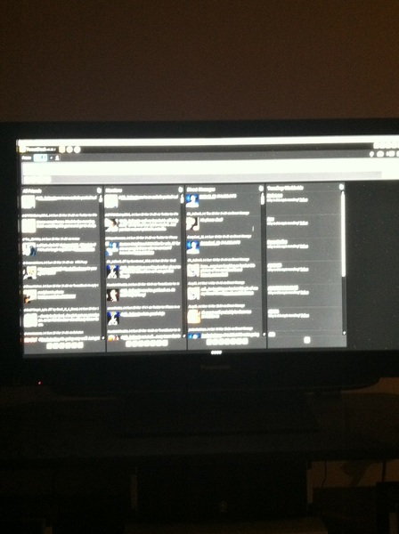 TweetDeck on the big screen!!!