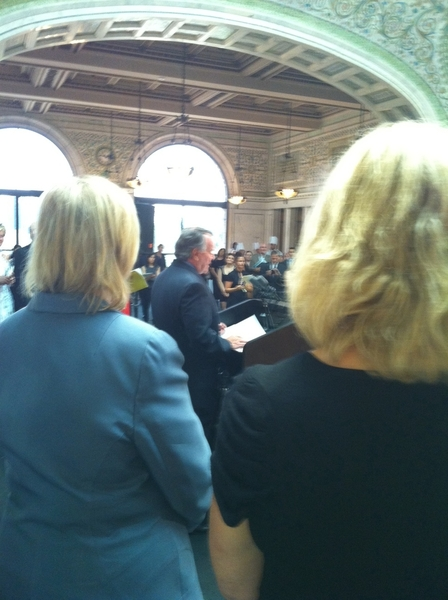 I spoke @ press conf with Mayor Daley&amp;Barbara Fairchild (Bon Ap Mag) announcing 3rd annual Chgo Gourmet in Sept