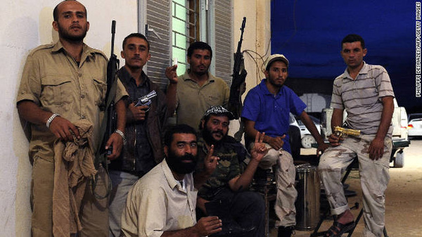 Picture of NTC fighters who captured Libya&#039;s