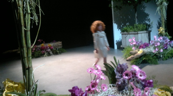 Four year old model opens Edwin Goudshoorn #afw show