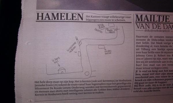 Goede duiding kermis #venhuizen vandaag in Volkskrant