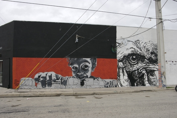 This is a better picture of the mural I did of Sailor down in Miami. It is a respray of the same piece i did up in New York
